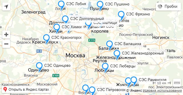 Москве и Московской области